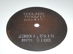 Disco de corte para metalografia - 230mmX1,5mmX19mm-TCM2 (15-35HRC)