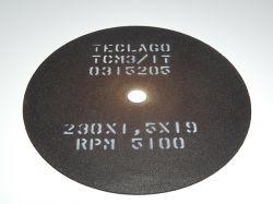 Disco de corte para metalografia - 230mmX1,5mmX19mm-TCM3 (35-50HRC)