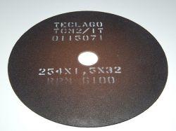 Disco de corte para metalografia - 254mmX1,5mmX32mm-TCM2 (15-35HRC)