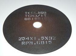 Disco de corte para metalografia - 254mmX1,5mmX32mm-TCM3 (35-50HRC)