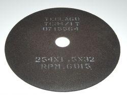 Disco de corte para metalografia - 254mmX1,5mmX32mm-TCM4 (acima de 50HRC)