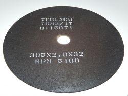 Disco de corte para metalografia - 305mmX2,0mmX32mm-TCM2 (15-35HRC)