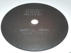 Disco de corte para metalografia - 305mmX2,0mmX32mm-TCM3 (35-50HRC)