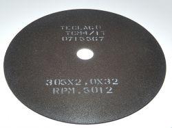 Disco de corte para metalografia - 305mmX2,0mmX32mm-TCM4 (acima de 50HRC)