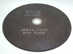 Disco de corte para metalografia - 350mmX2,5mmX32mm-TCM2 (15-35HRC)