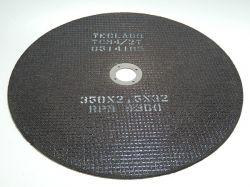Disco de corte para metalografia - 350mmX2,5mmX32mm-TCM4 (acima de 50HRC)