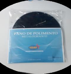Pano para polimento metalográfico com alumina - Ø200mm - Azul escuro - Pacote com 5 unidades