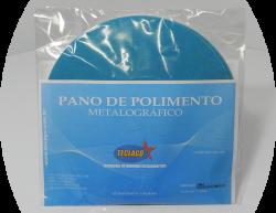 Pano para polimento metalográfico com pasta de diamante (0,25mµ-3mµ) - Ø200mm - Azul claro - Pacote com 5 unidades
