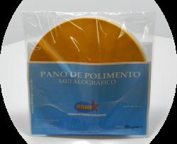 Pano para polimento metalográfico com pasta de diamante (3mµ-6mµ) - Ø200mm - Amarelo - Pacote com 5 unidades