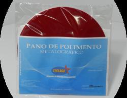 Pano para polimento metalográfico com pasta de diamante (6mµ-15mµ) - Ø200mm - Vermelho - Pacote com 5 unidades