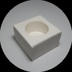 Molde de silicone para embutimento à frio - Ø40mm