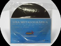 Lixa para metalografia - grão 180 - Ø200mm - Pacote com 10 unidades